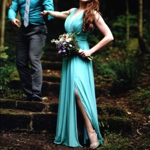 *NWT* - Mint Chiffon Gown by Fame & Partners